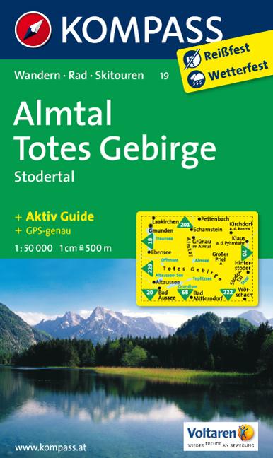 Almtal Turisticka Mapa Totes Gebirge Kompass Mapy Rakousko