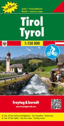 Mapa Turisticka Tyrolsko Cyklomapa Cyklostezky Mapy Rakousko