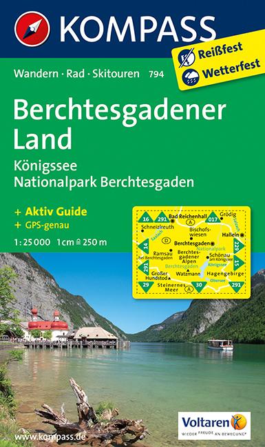 Turisticka Mapa Berchtesgaden Konigssee Nationalpark