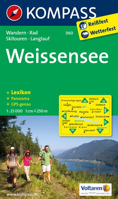Turisticka Mapa Weissensee Kompass Mapy Rakousko